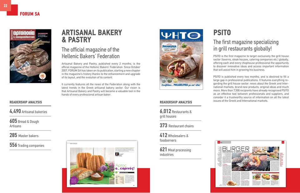 official magazine of the Hellenic Bakers Federation.