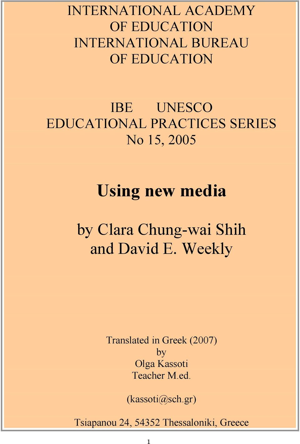 Chung-wai Shih and David E.