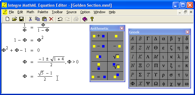 Integre MathML Equation Editor