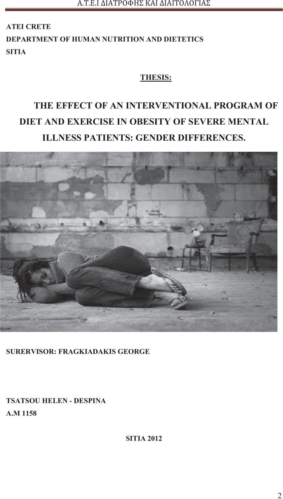 OBESITY OF SEVERE MENTAL ILLNESS PATIENTS: GENDER DIFFERENCES.