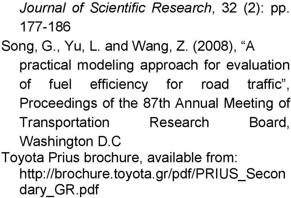 traffic, Proceedings of the 87th Annual Meeting of Transportation Research Board,