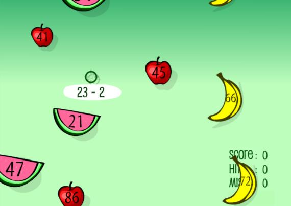 αθλητή. 2.4 Ιστοσελίδα http://www.sheppardsoftware.com/mathgames/fruitshoot/fruitshoot_subtraction.