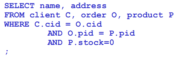 SQL(DML) - Query Example 8 Query:8 Βρείτε τα ονόματα και τις διευθύνσεις των