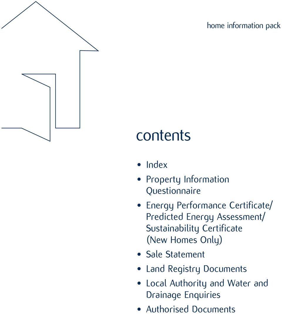 Sustainability Certificate (New Homes Only) Sale Statement Land