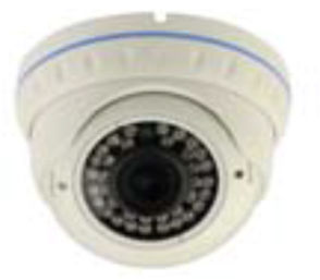 DOME ΚΑΜΕΡΕΣ VD-IEBS42 Μεταλλική (Vandalproof) κάμερα με IR LED, 1/3 SONY Color CCD, 420 TVL 4mm/F2.0 (0.01 Lux, 0 Lux με IR On).