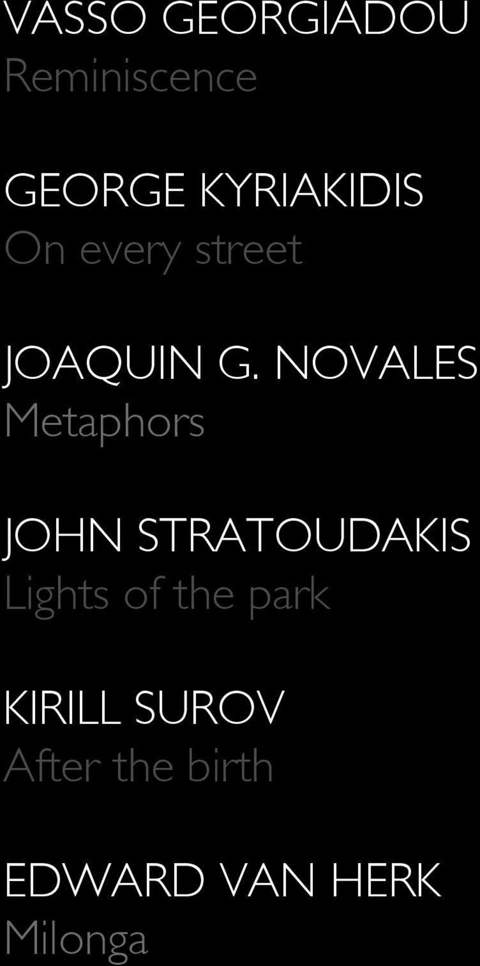 novales Metaphors john stratoudakis Lights of