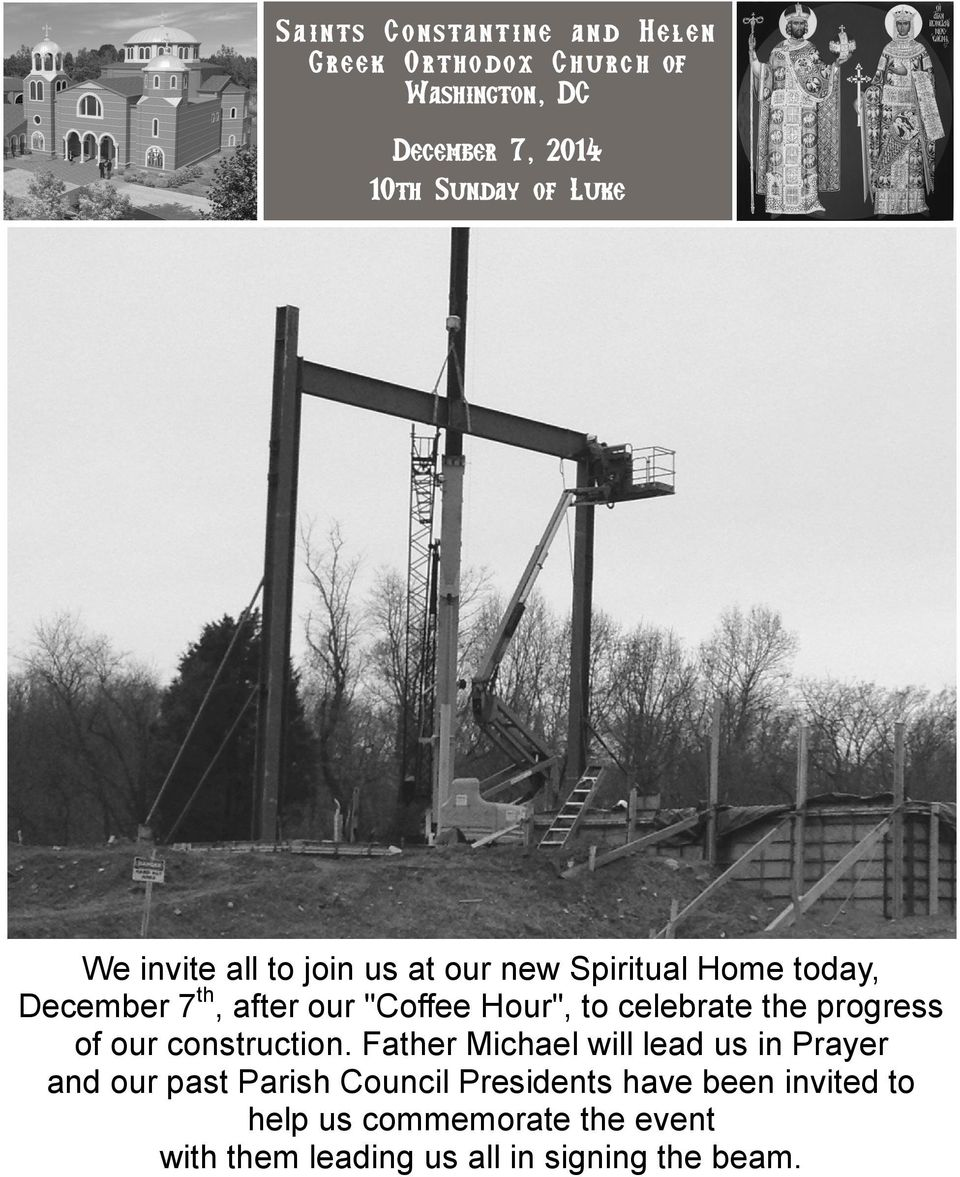celebrate the progress of our construction.