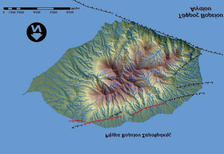 Active faults of Samothrace island