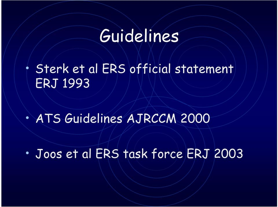 ATS Guidelines AJRCCM 2000