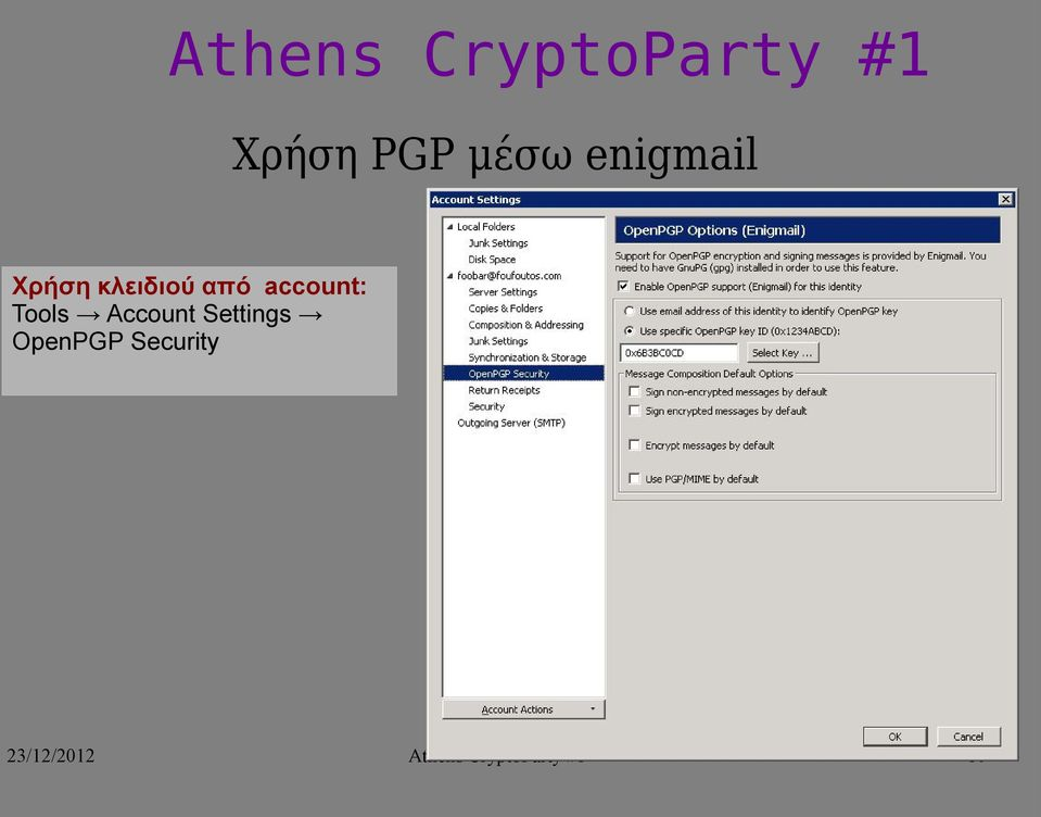 Account Settings OpenPGP