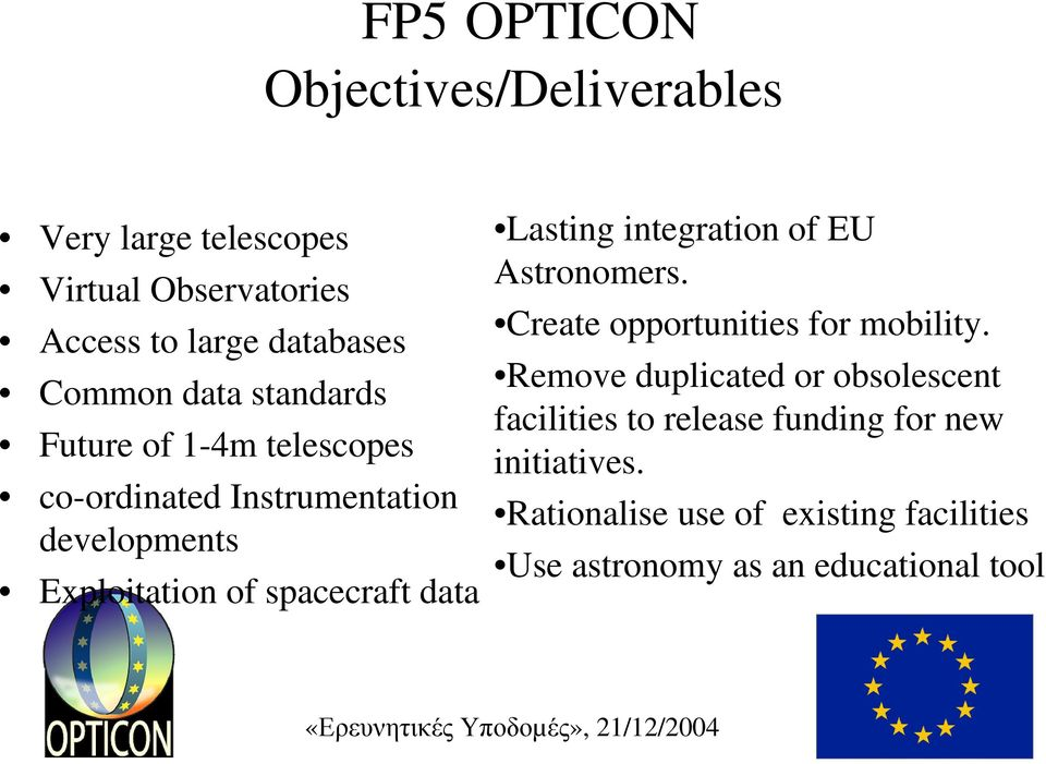Lasting integration of EU Astronomers. Create opportunities for mobility.
