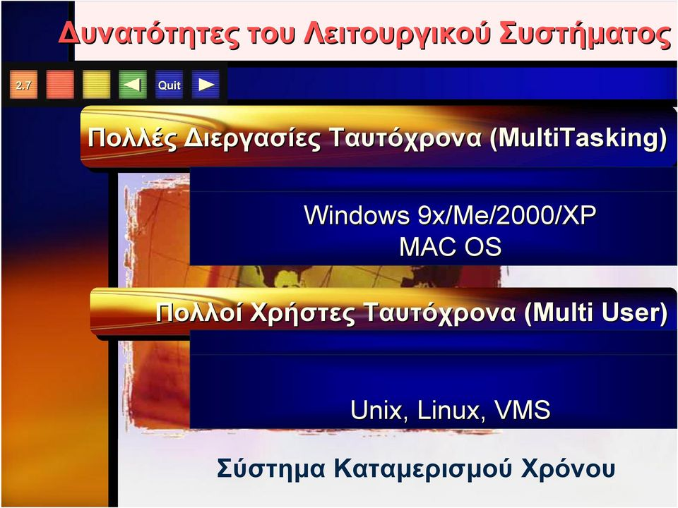 (MultiTasking) (MultiTasking) Windows 9x/Me/2000/XP MAC OS Πολλοί Multi