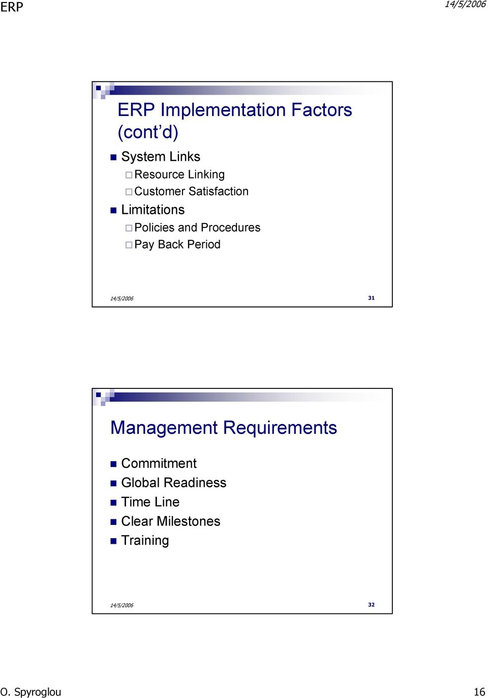 Procedures Pay Back Period 31 Management Requirements