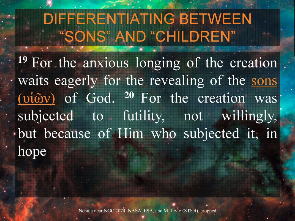 sons (υἱῶν) of God.