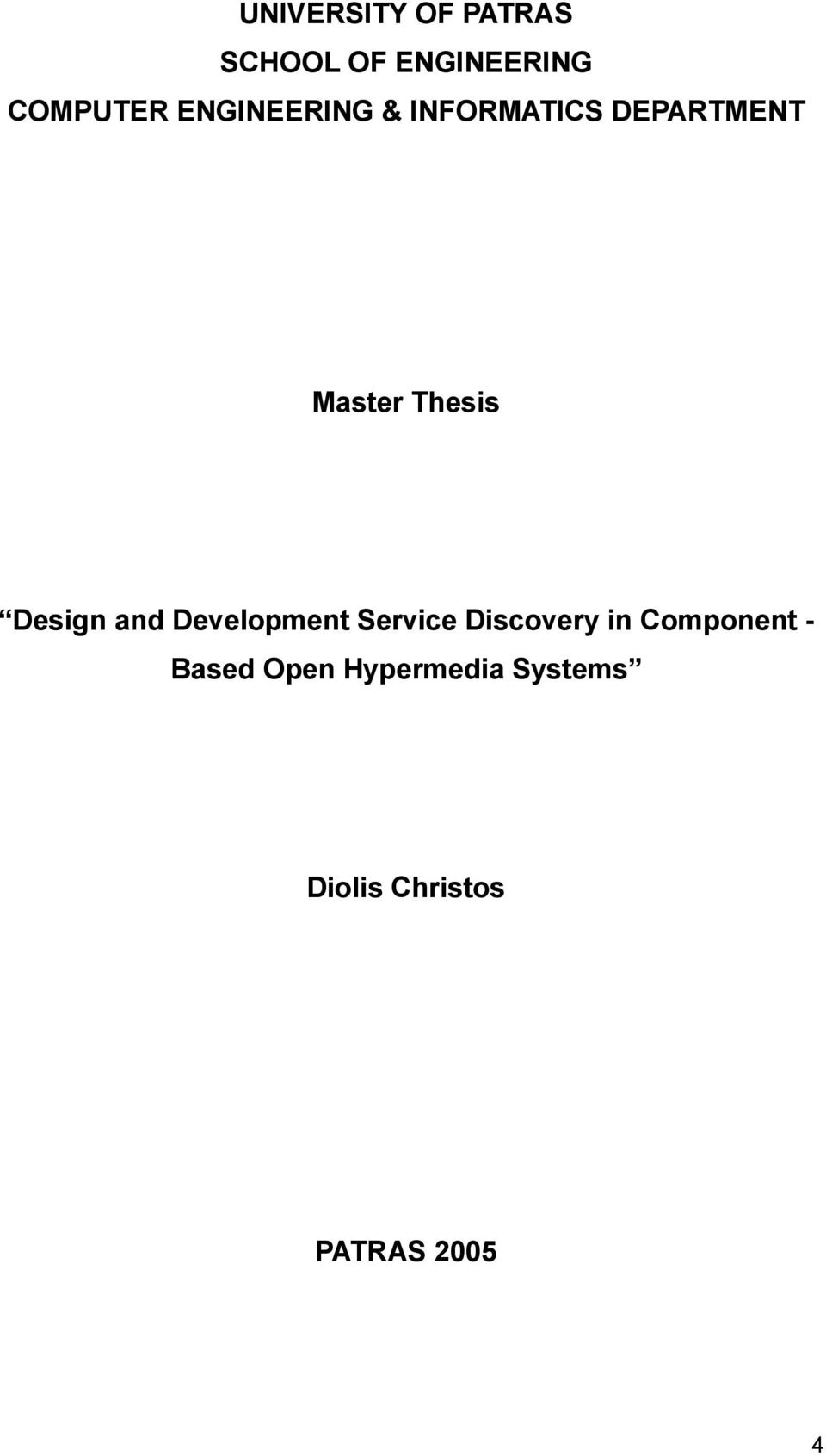 Design and Development Service Discovery in Component