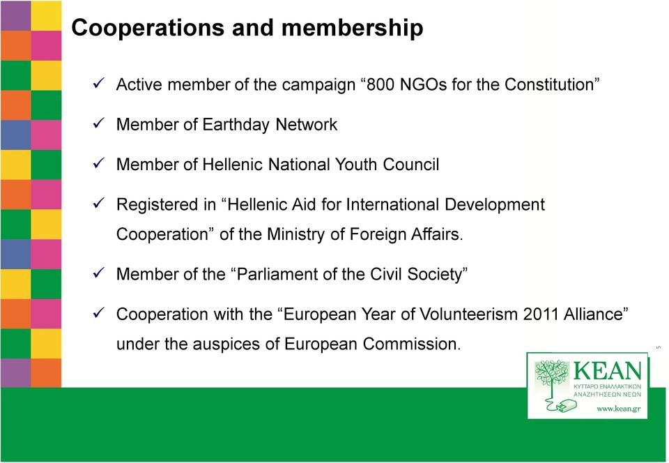 Cooperation of the Ministry of Foreign Affairs.
