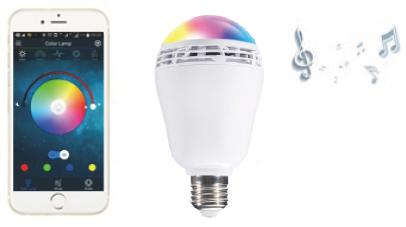 (Cool White) LED color: White+RGB Life span: 40,000hrs CRI: 80 Bluetooth: 4.