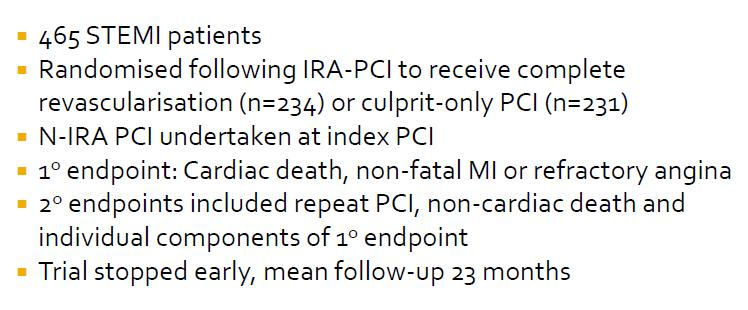 Randomized Trial of Preventive Angioplasty in MI