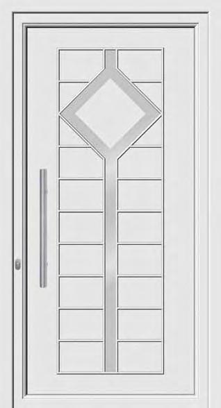 Inox designs PVC+ABS door panels ABS 8110 Τυφλό δύο όψεων µε