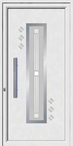 Inox designs PVC+ABS door panels ABS 8382 Ένα τζάµι µε