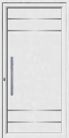 Inox designs PVC+ABS door panels ABS 8010 Τυφλό δύο