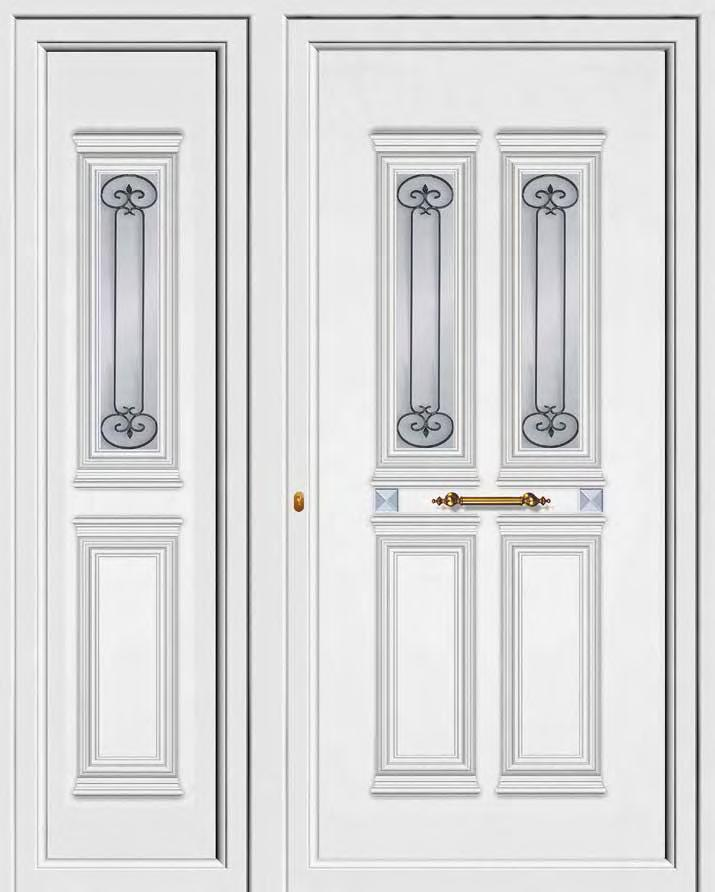 PVC+ABS door panels ABS 8976 PVC 9976 Ένα τζάµι µε κάγκελο One glass