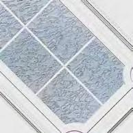 PVC 9472 One glass delta mat with