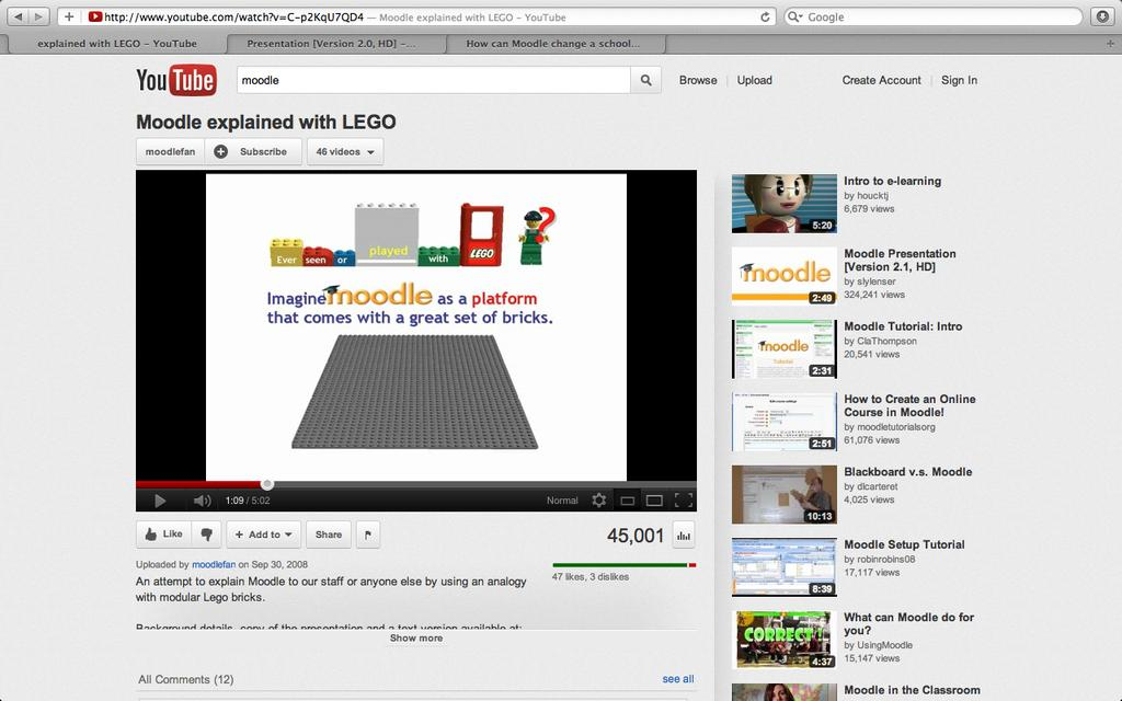 Moodle explained with LEGO Διάλεξη