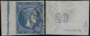 Taxed on June 21, 1872 (Julian), bearing a quite uncommon 5l. franking canc. «ΑΘΗΝΑΙ*21.ΙΟΥΝ.72». The 5l.