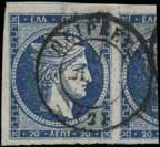 234 3X20l. blue (pos. 146+124+75) with Groom s characteristic 0 s Nos 6, 27 and 25b. In o 25 addition plate flaws in pos. 75+124, u. VF.