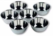 στρογγυλό Inox 18% Cr. Egg serving dish s. steel 18% Cr. Ref.
