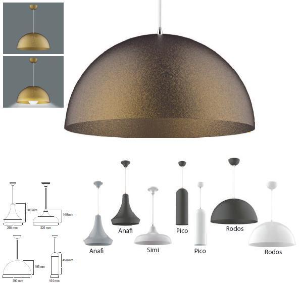 16 GoldLED Pendant CCT Suggested LED Base LED Ready 3000-4000K E27 YES PMMA/ Aluminium PCB Optical Cover / Diffuser Body Other Electrostatic powder coated, aluminium body Non Flammable Connector