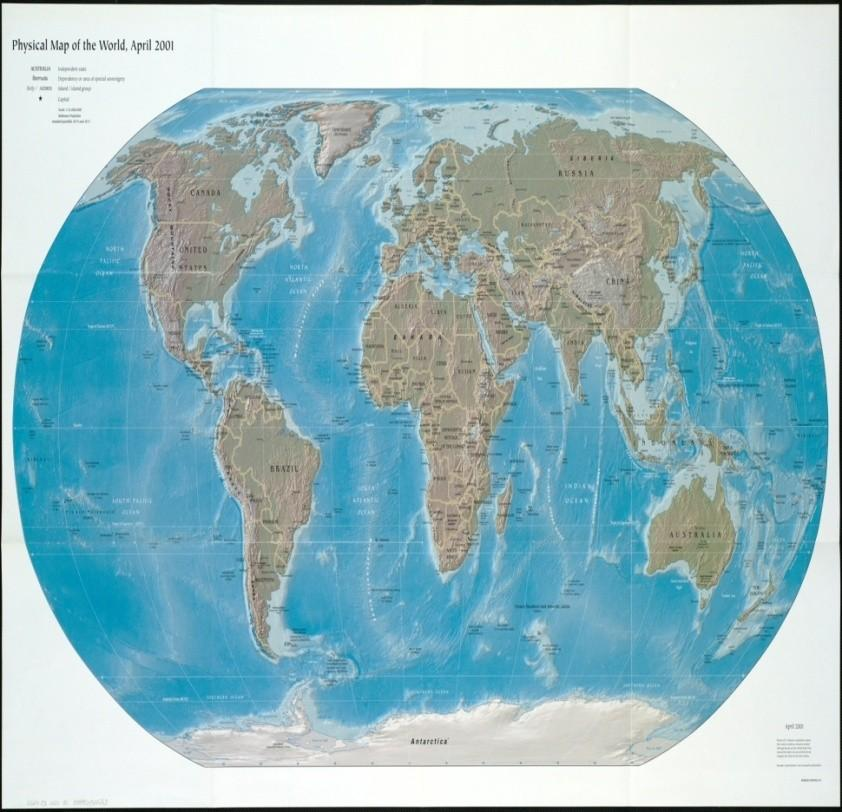 com/photos/kevinmgill/73697 71816/sizes/o/in/photolist Physical Map of the World, April