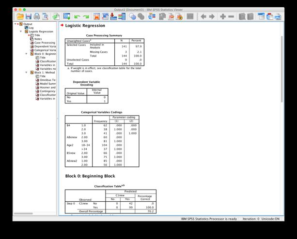 SPSS (23) macos 10.12.