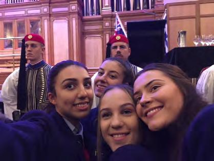 I would like to thank our Prefects and Year 12 s Nini Thomadakis, Costa Andresakis, Athena Stamoulos, Nikolina Veselinovic, Sophia Petropoulos and Sarantos Makris who accompanied me to this special