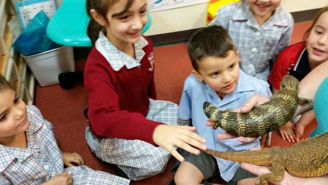 She gave the class a talk about the needs, habitats and protection each animal requires to survive in the Australian Bushland.