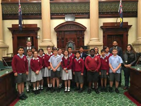 Year 6 Trip to the State Parliament House On Monday the 10 th of April, 2017, our class 6S were fortunate enough to visit the State Parliament on North Terrace as part of our work on the Constitution