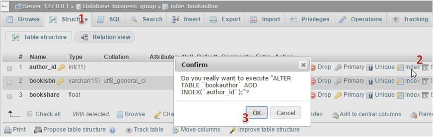 O κώδικας SQL για το BookAuthor BookAuthor CREATE TABLE `business_group`.