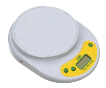 scale ideal for R600 charges. Digital readings. TARA function, automatic reset and overload indication. Capacity: 5kg Accuracy: ±0.