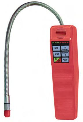 STARTEK-C Ultra modern combustible gas leak detector. Detects propane, isobutene, methane and all combustible gases. Plastic curry case.