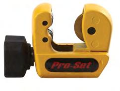 Tube cutter RS-16 Cutter for cross tube: 1/8-5/8 (3-16mm) Small, handy, resistant to damage. With a rummer and a cutting wheel.