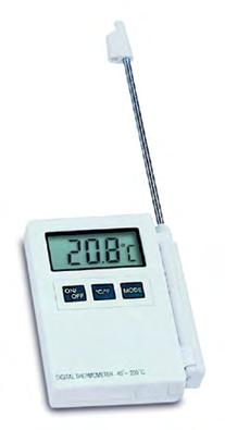 K: Μοντέλο πιστοποιημένο κατά HACCP Digital stick thermometer P300 31.1020 Professional digital thermometer. Hold-,max.-min.-function, backlit display, Reversible C/ F.