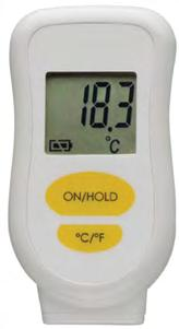 With table stand and magnet. Display of current, highest and lowest temperature, hold function, alarm at freely adjustable temperature values (upper/lower limit). Reversible C/ F. HACCP Certificated.