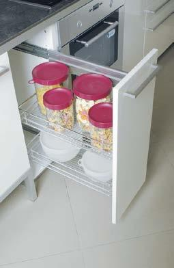 Inner pull-out systems Inner pull-out systems with controlled movement and utensil