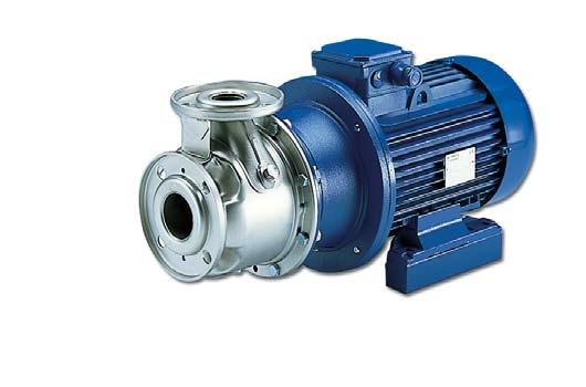 SH Series Centrifugal pumps entirely made of AISI 36 stainless steel according to EN 733 (ex DIN 24255). Designed to pump hot, cold and moderately aggressive liquids.