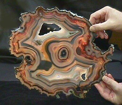 Agate slice is from