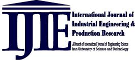 International Journal of Industrial Engineering & Production Management 2013) ugust 2013, Volume 24, Number 2 pp. 183-189 http://ijiepm.iust.ac.