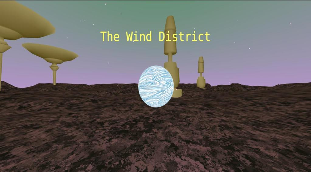 The Wind District Figure 50: The Motion Hollow experience - The Wind District, Arrival