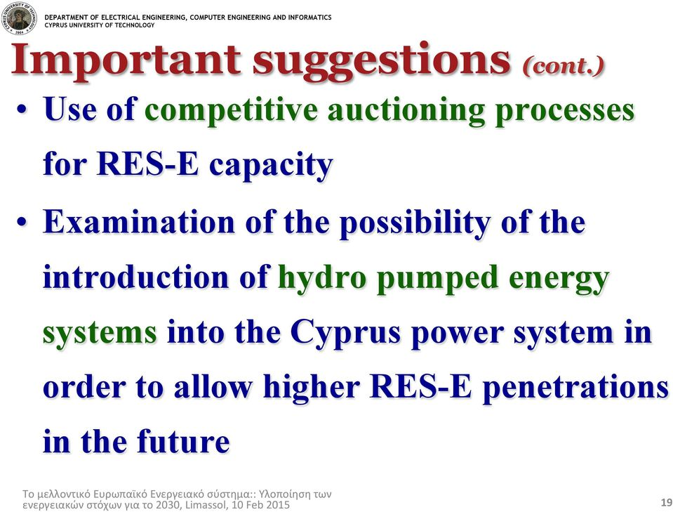 Examination of the possibility of the introduction of hydro