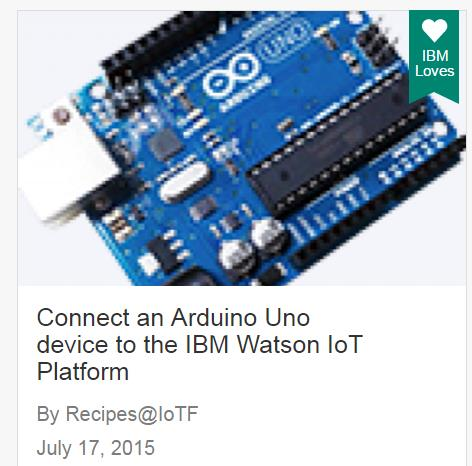 «Tutorial that shows how to connect an Arduino Uno to the Watson IoT service in Bluemix» Εικόνα 3.